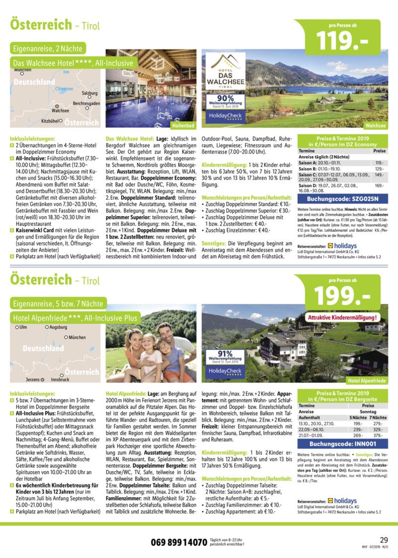 Lidl-Reisen Prospekt vom 01.07.2019, Seite 28
