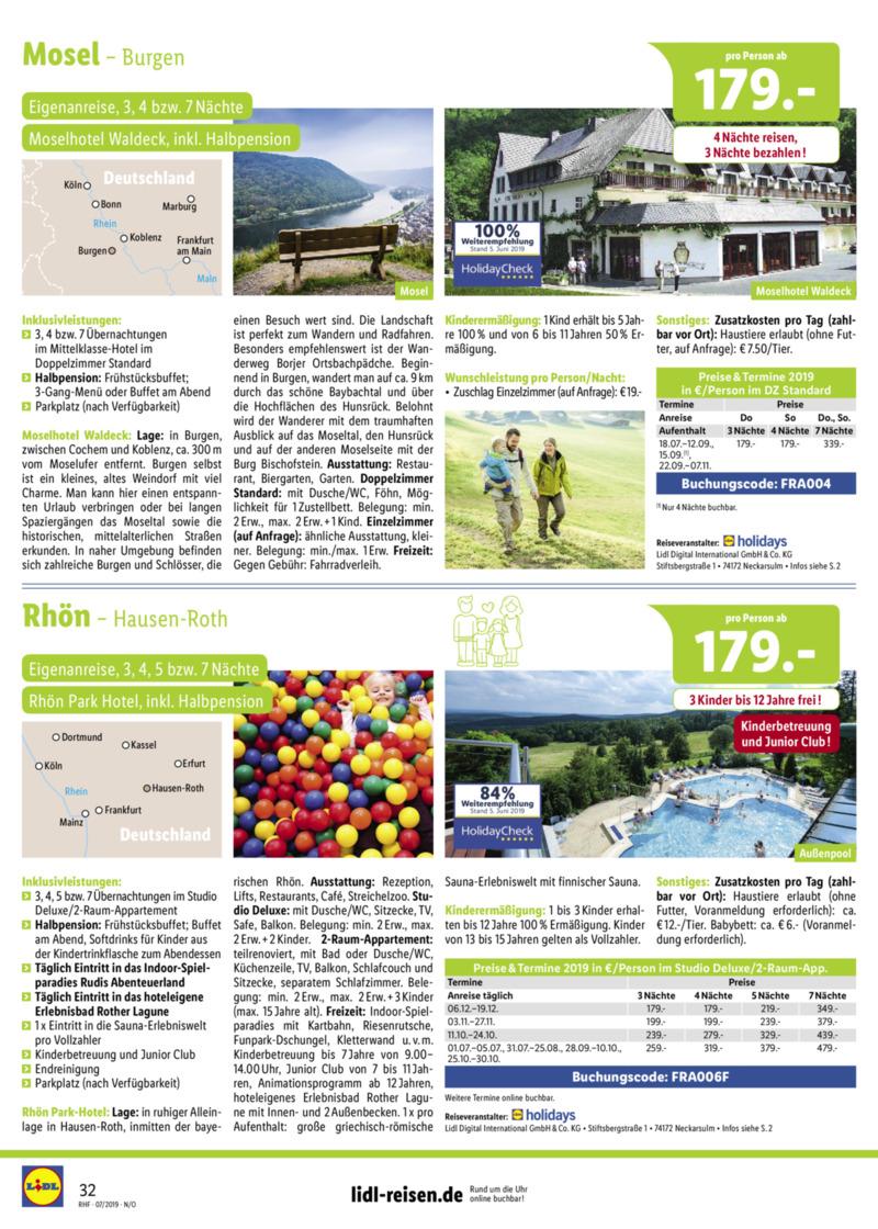 Lidl-Reisen Prospekt vom 01.07.2019, Seite 31