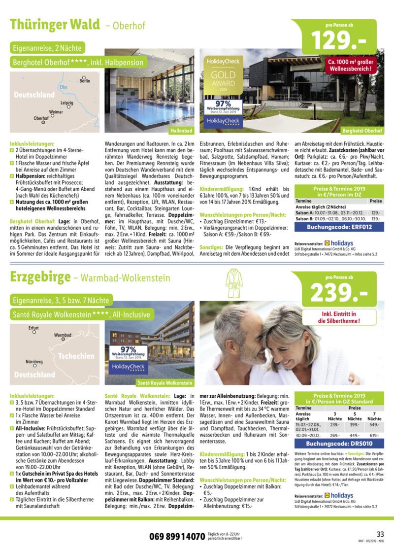Lidl-Reisen Prospekt vom 01.07.2019, Seite 32