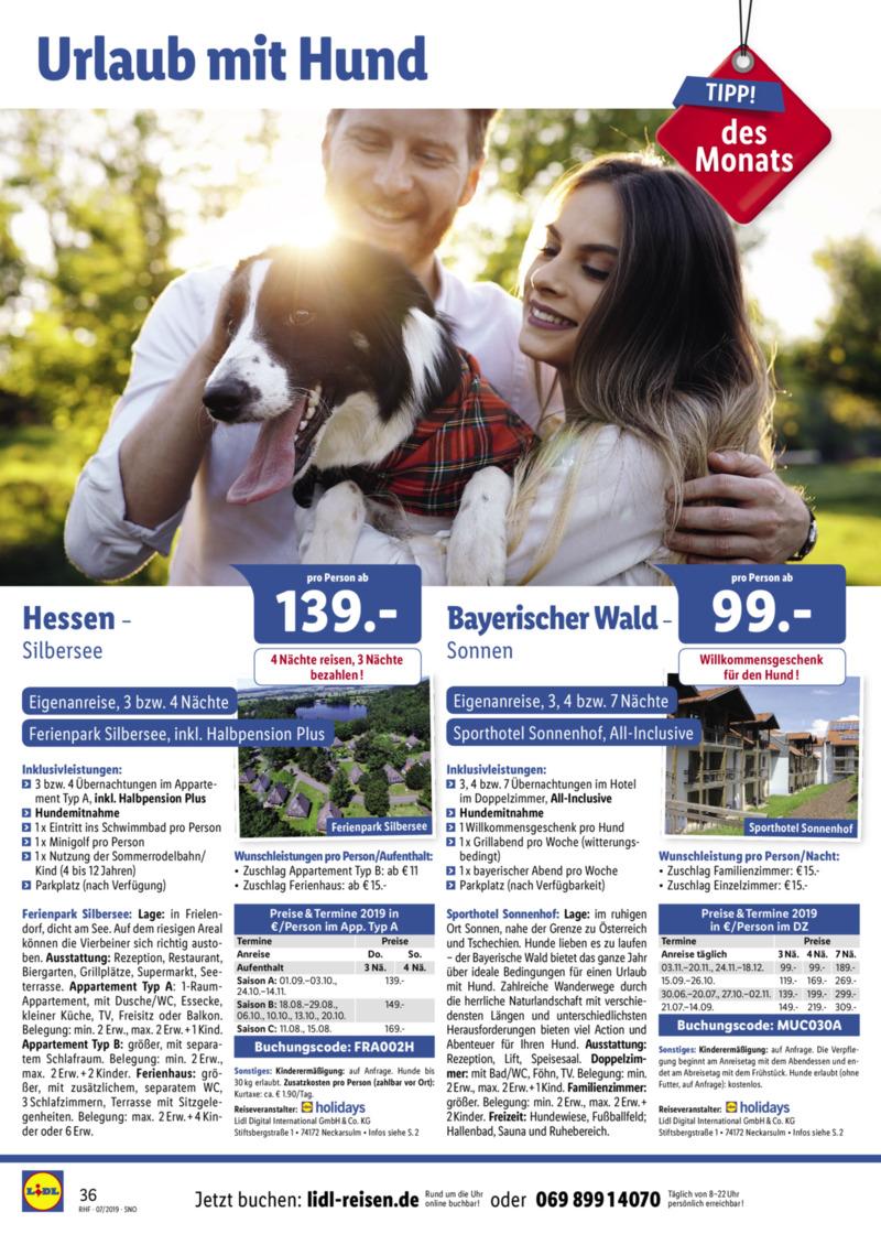 Lidl-Reisen Prospekt vom 01.07.2019, Seite 35
