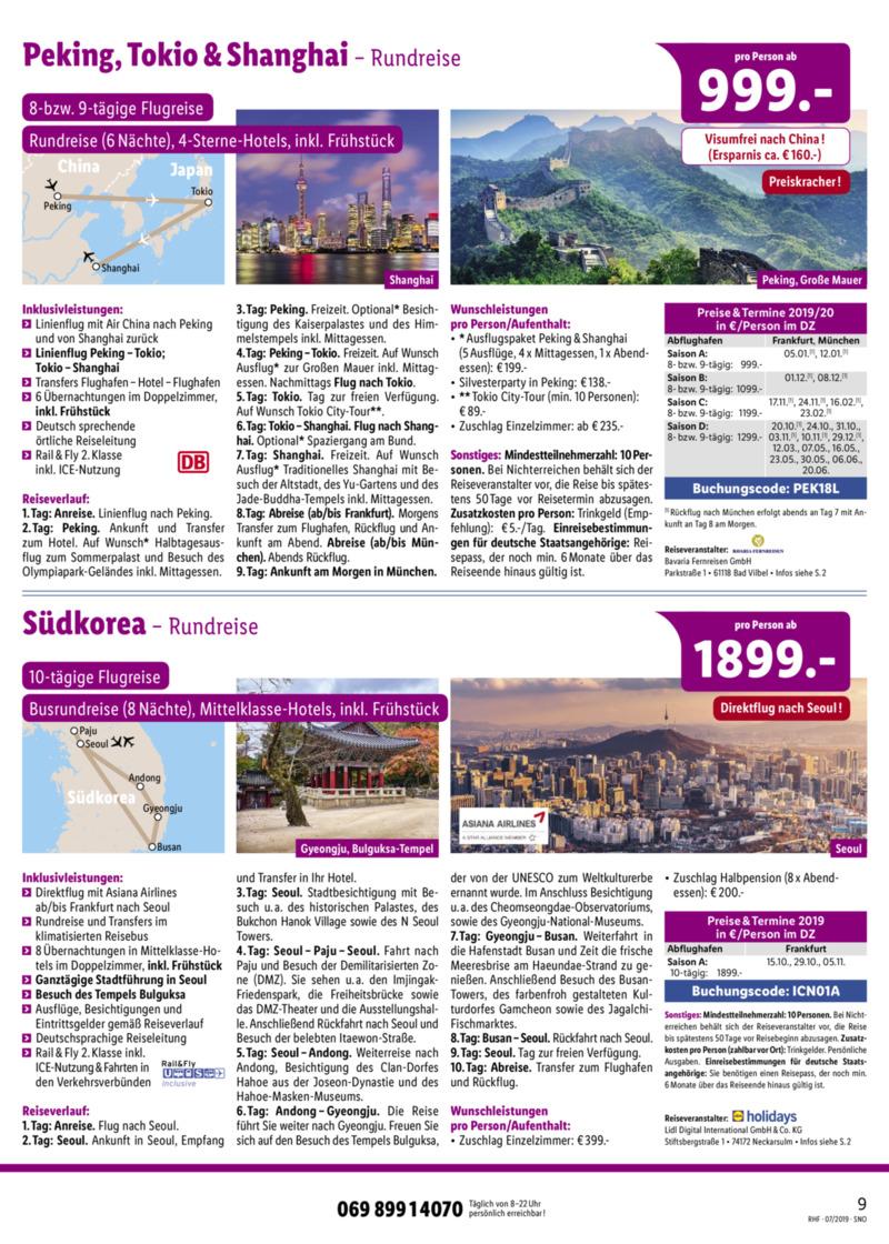 Lidl-Reisen Prospekt vom 01.07.2019, Seite 8