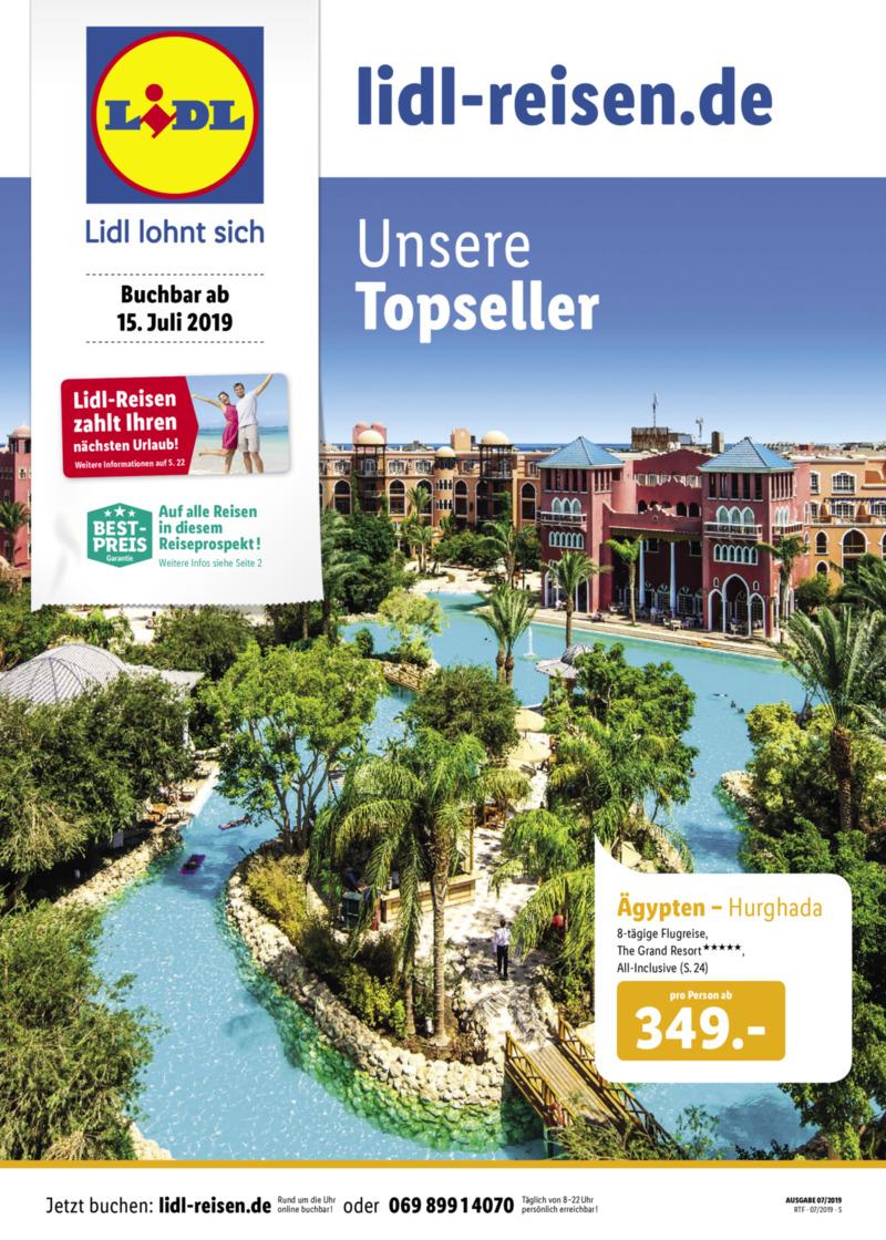 Lidl-Reisen Prospekt vom 15.07.2019, Seite