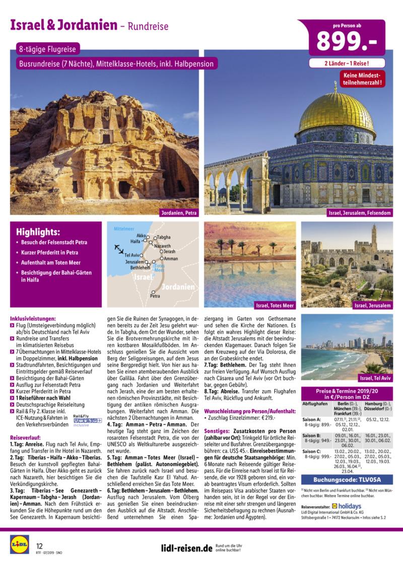 Lidl-Reisen Prospekt vom 15.07.2019, Seite 11