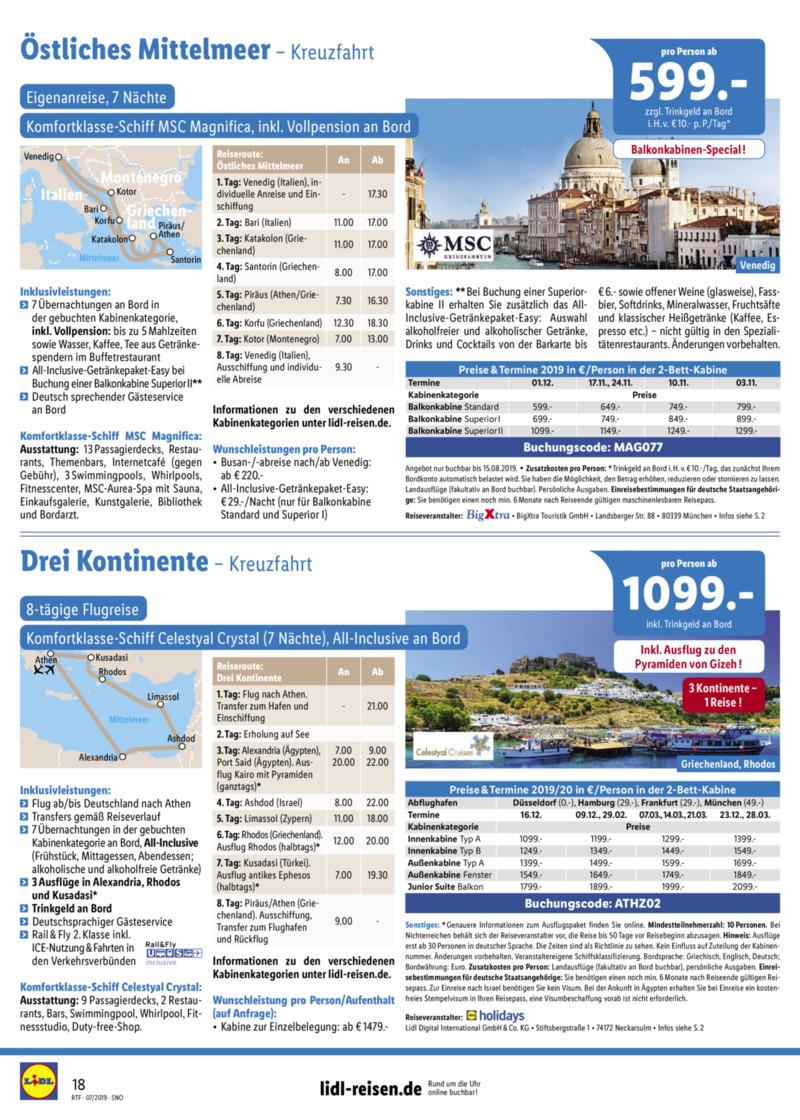 Lidl-Reisen Prospekt vom 15.07.2019, Seite 17