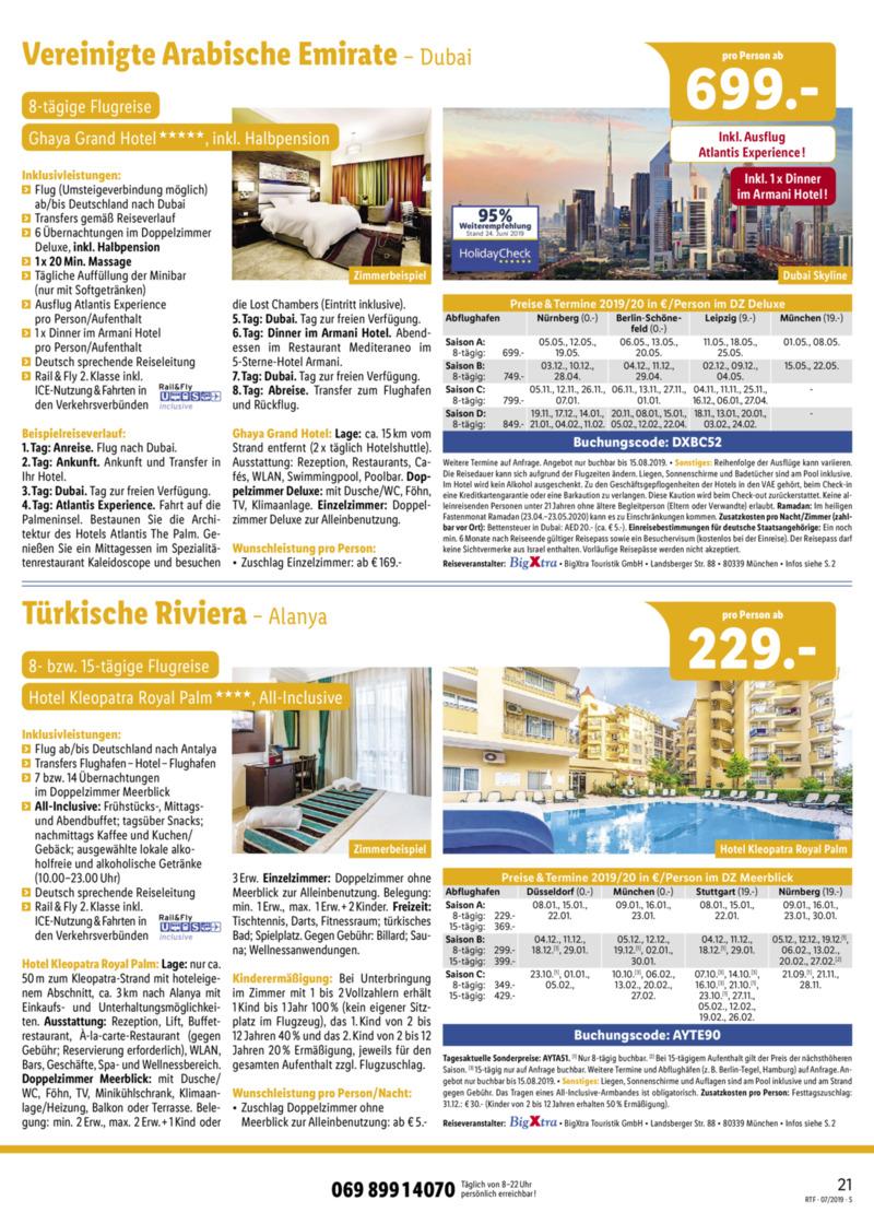 Lidl-Reisen Prospekt vom 15.07.2019, Seite 20