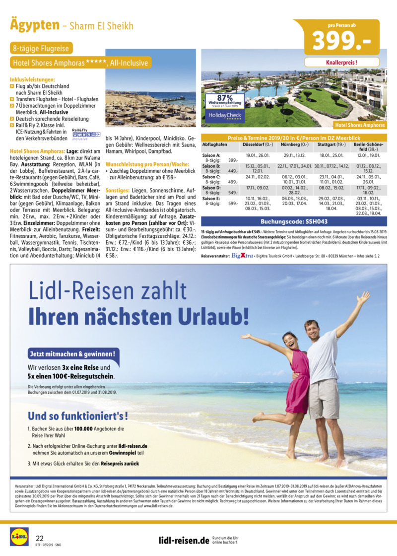 Lidl-Reisen Prospekt vom 15.07.2019, Seite 21