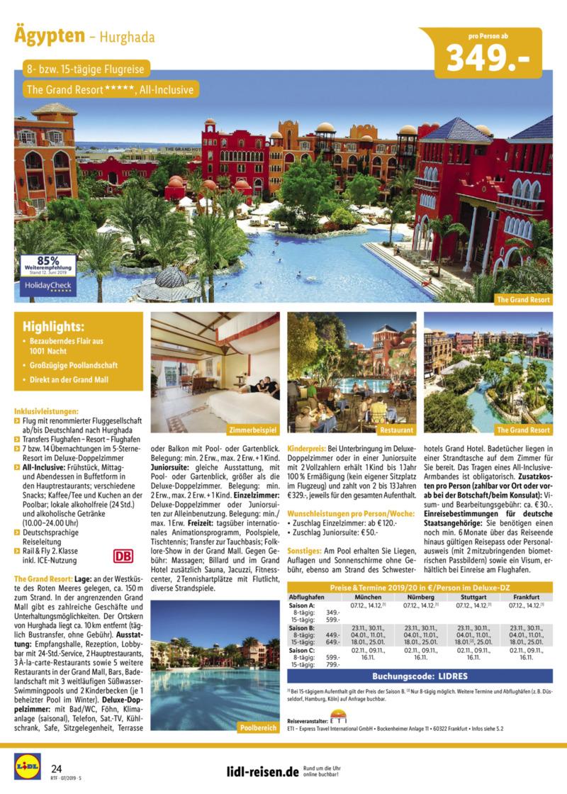 Lidl-Reisen Prospekt vom 15.07.2019, Seite 23