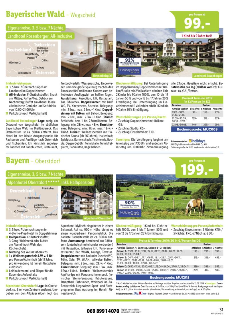 Lidl-Reisen Prospekt vom 15.07.2019, Seite 30