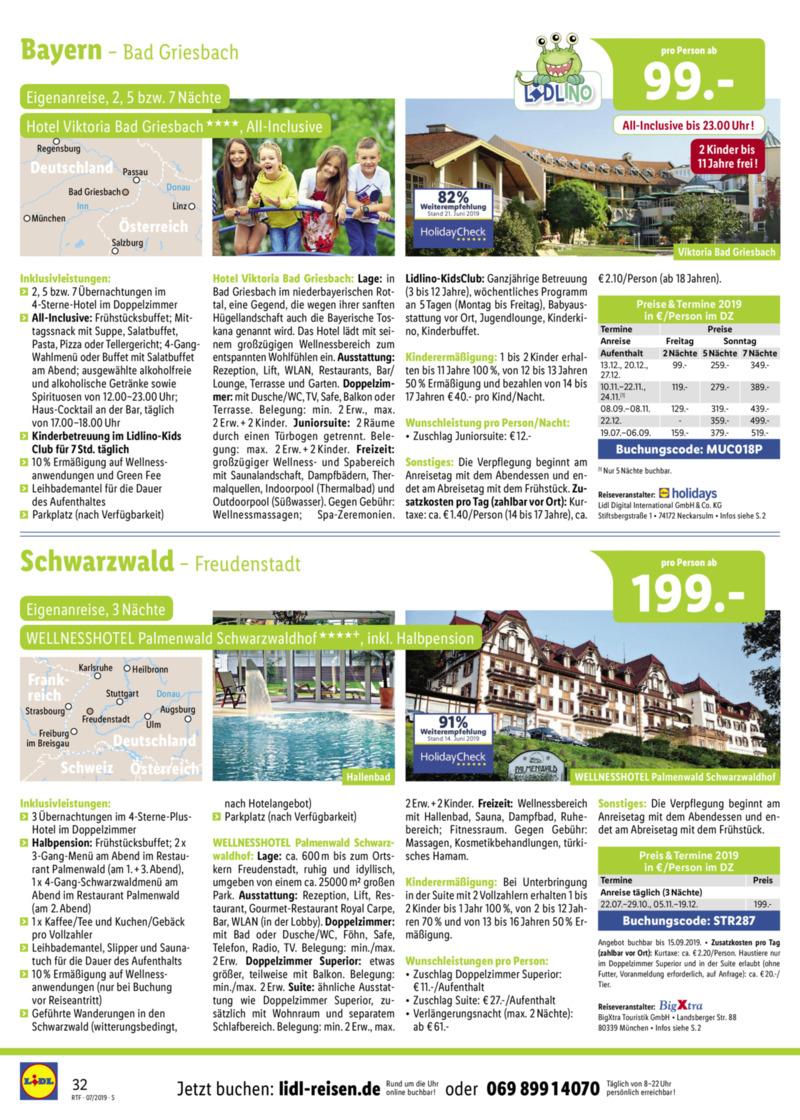 Lidl-Reisen Prospekt vom 15.07.2019, Seite 31