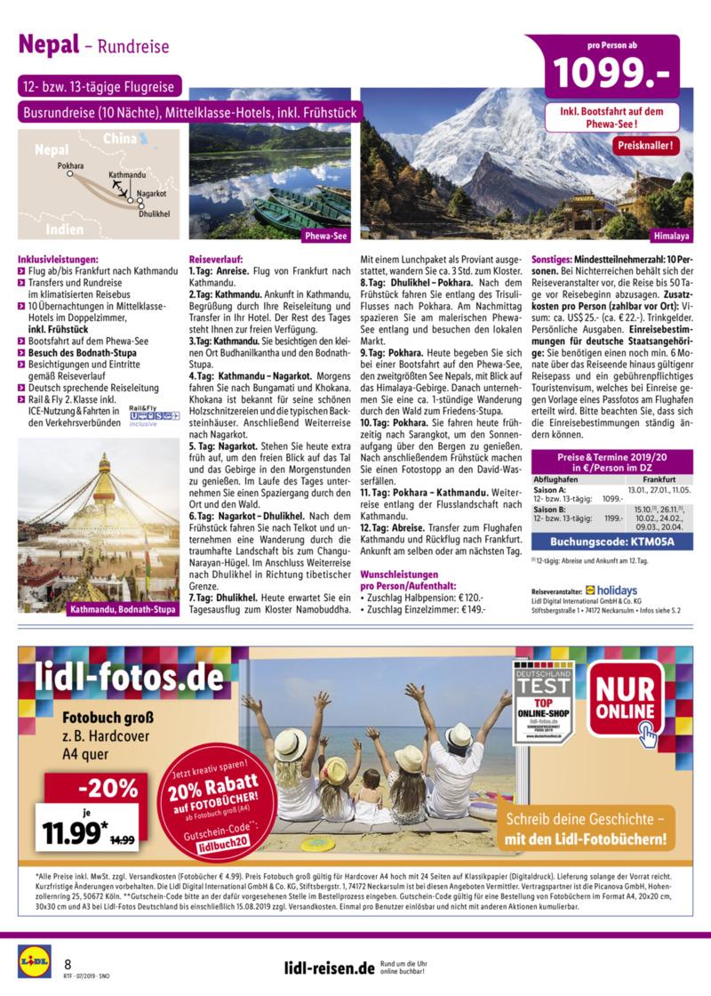 Lidl-Reisen Prospekt vom 15.07.2019, Seite 7
