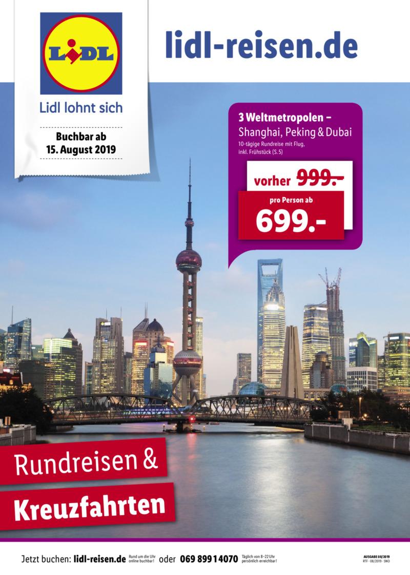 Lidl-Reisen Prospekt vom 15.08.2019, Seite