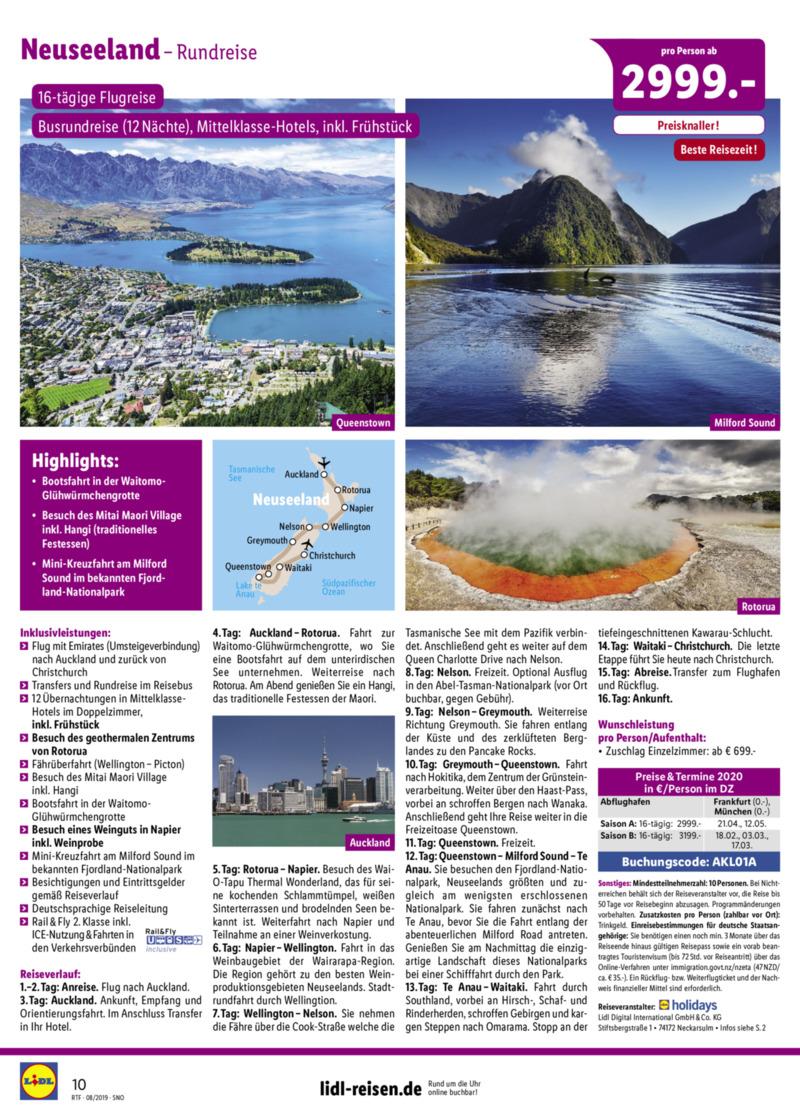 Lidl-Reisen Prospekt vom 15.08.2019, Seite 9