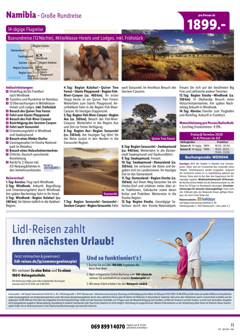 Lidl-Reisen Prospekt vom 15.08.2019, Seite 10