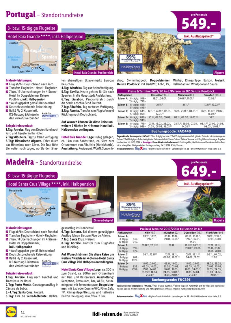 Lidl-Reisen Prospekt vom 15.08.2019, Seite 13