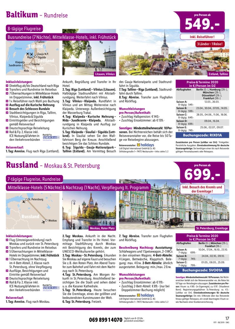 Lidl-Reisen Prospekt vom 15.08.2019, Seite 16