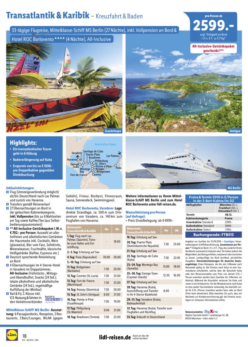 Lidl-Reisen Prospekt vom 15.08.2019, Seite 17