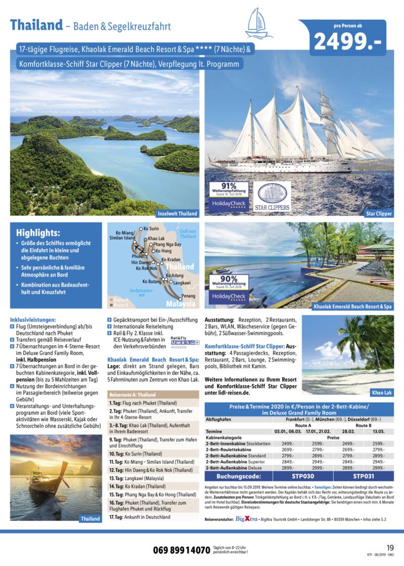Lidl-Reisen Prospekt vom 15.08.2019, Seite 18