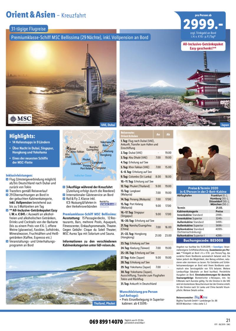 Lidl-Reisen Prospekt vom 15.08.2019, Seite 20