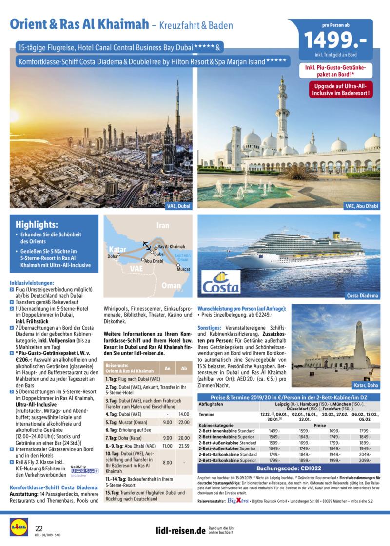 Lidl-Reisen Prospekt vom 15.08.2019, Seite 21