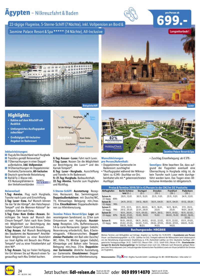 Lidl-Reisen Prospekt vom 15.08.2019, Seite 23
