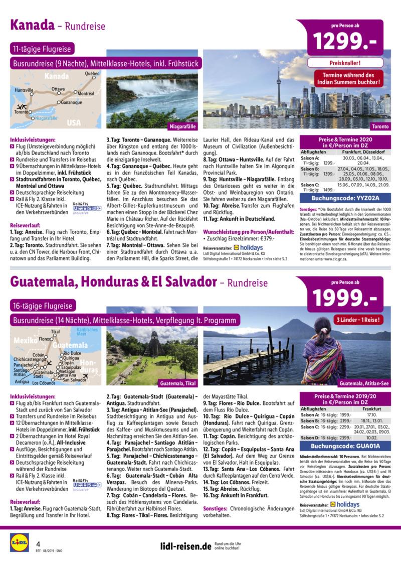 Lidl-Reisen Prospekt vom 15.08.2019, Seite 3