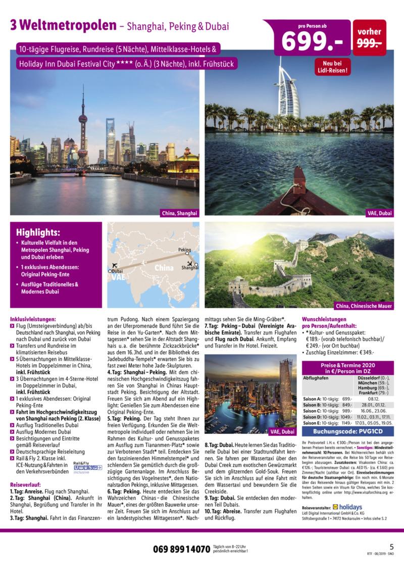 Lidl-Reisen Prospekt vom 15.08.2019, Seite 4