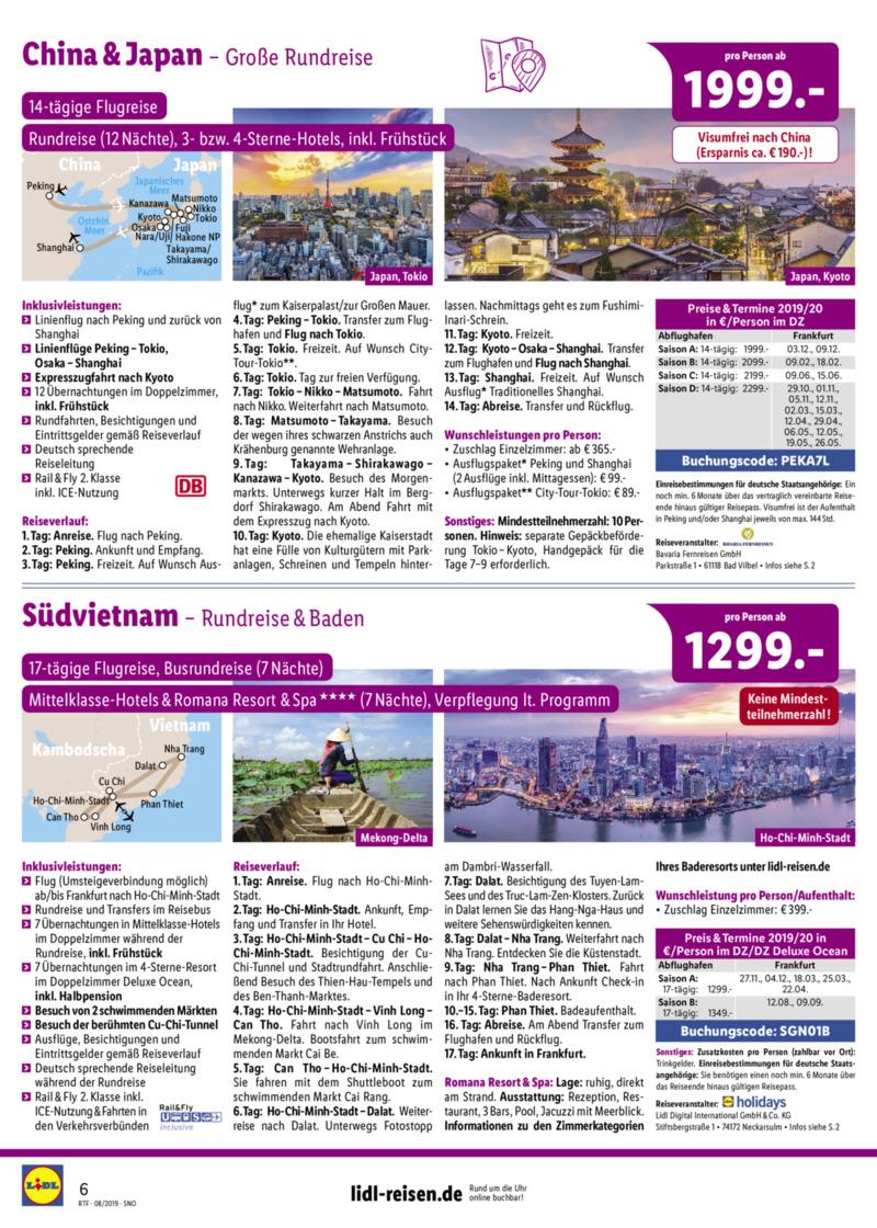 Lidl-Reisen Prospekt vom 15.08.2019, Seite 5
