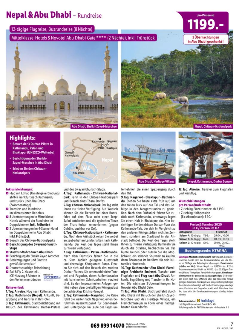 Lidl-Reisen Prospekt vom 15.08.2019, Seite 6