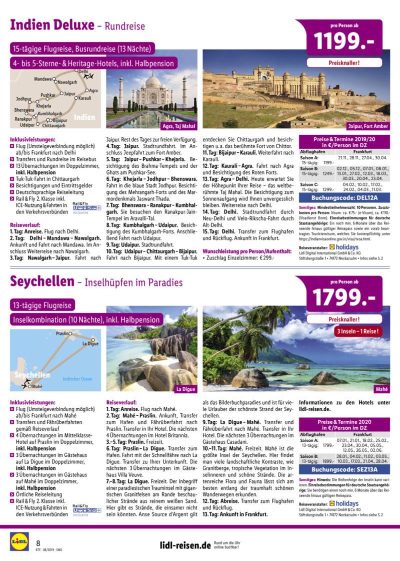 Lidl-Reisen Prospekt vom 15.08.2019, Seite 7