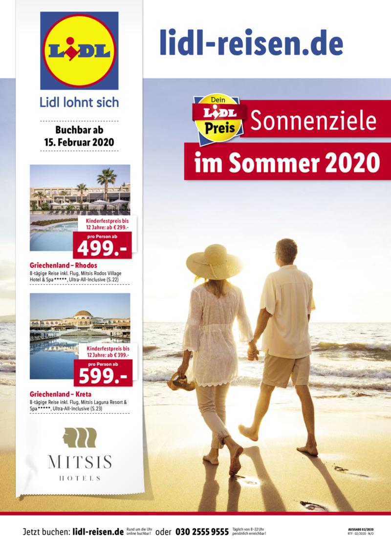Lidl-Reisen Prospekt vom 15.02.2020