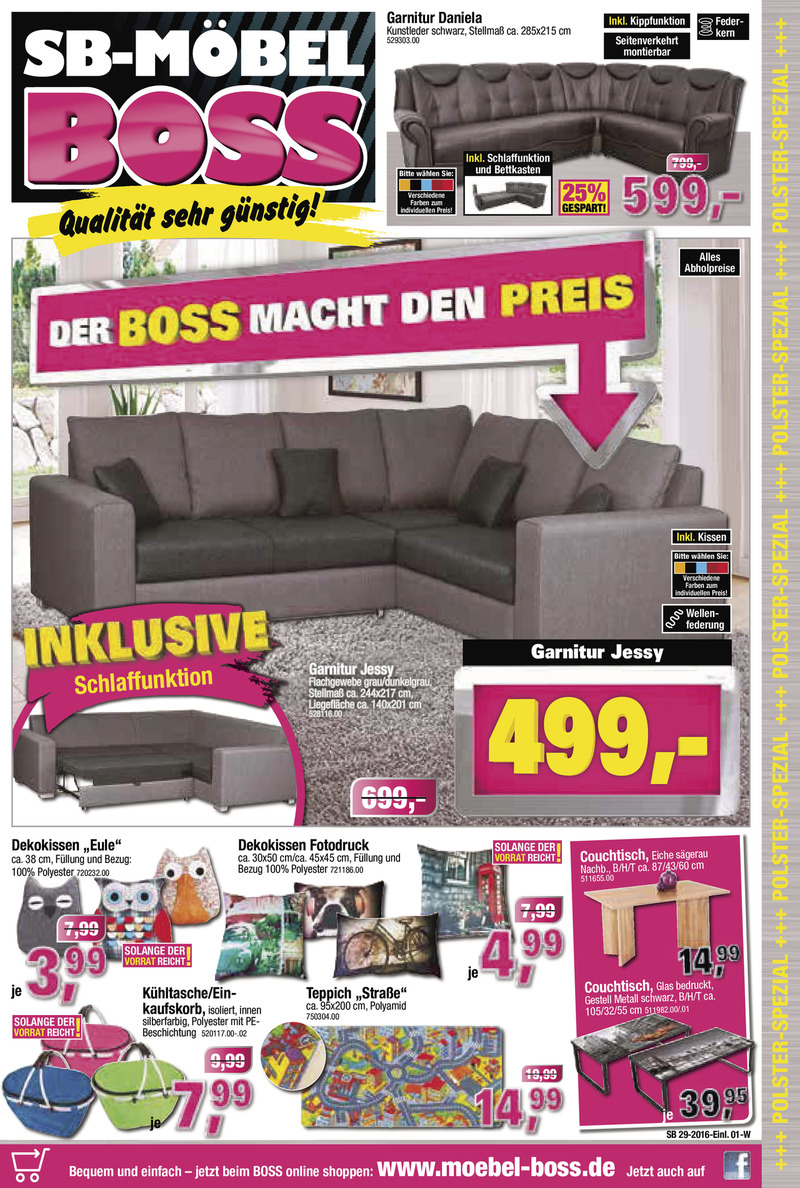 m bel boss prospekt vom bis bl ttern. Black Bedroom Furniture Sets. Home Design Ideas