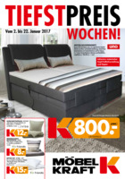 Möbel-Kraft Prospekt vom 02.01.2017