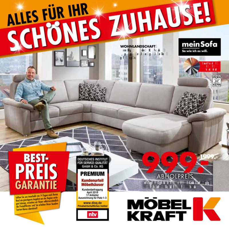 Möbel-Kraft Prospekt vom 21.08.2019, Seite