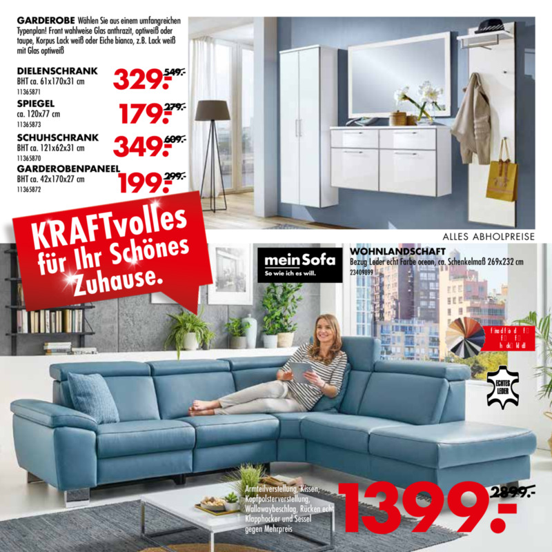 Möbel-Kraft Prospekt vom 21.08.2019, Seite 2