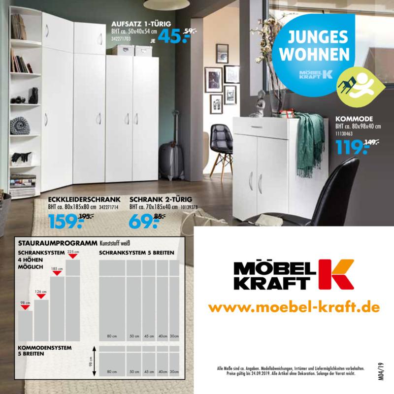 Möbel-Kraft Prospekt vom 21.08.2019, Seite 7