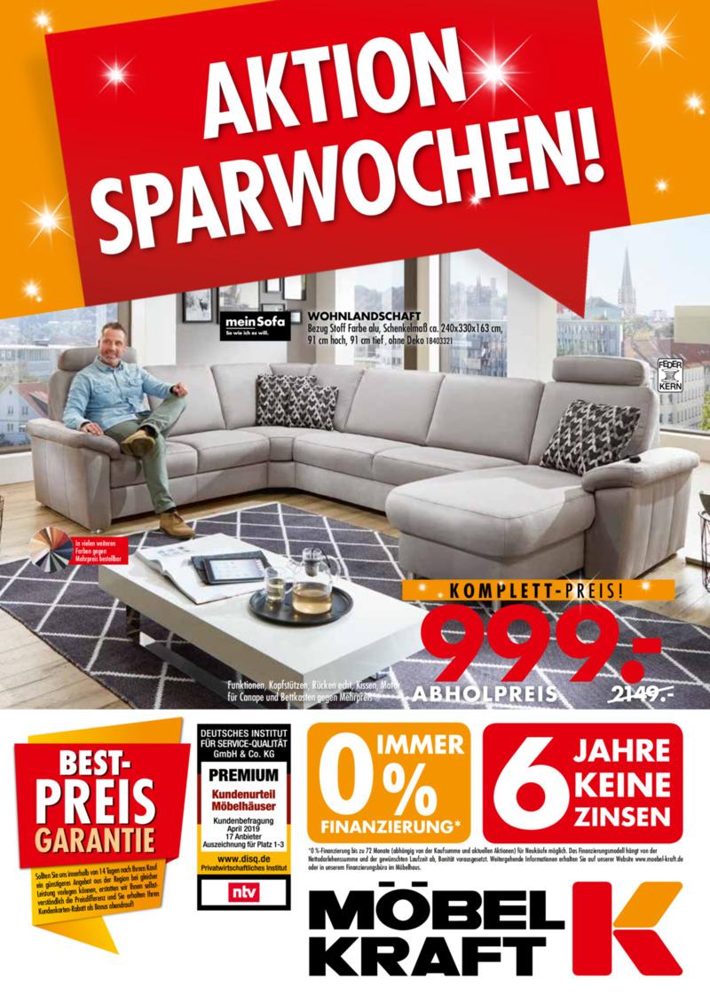 Möbel-Kraft Prospekt vom 18.09.2019, Seite