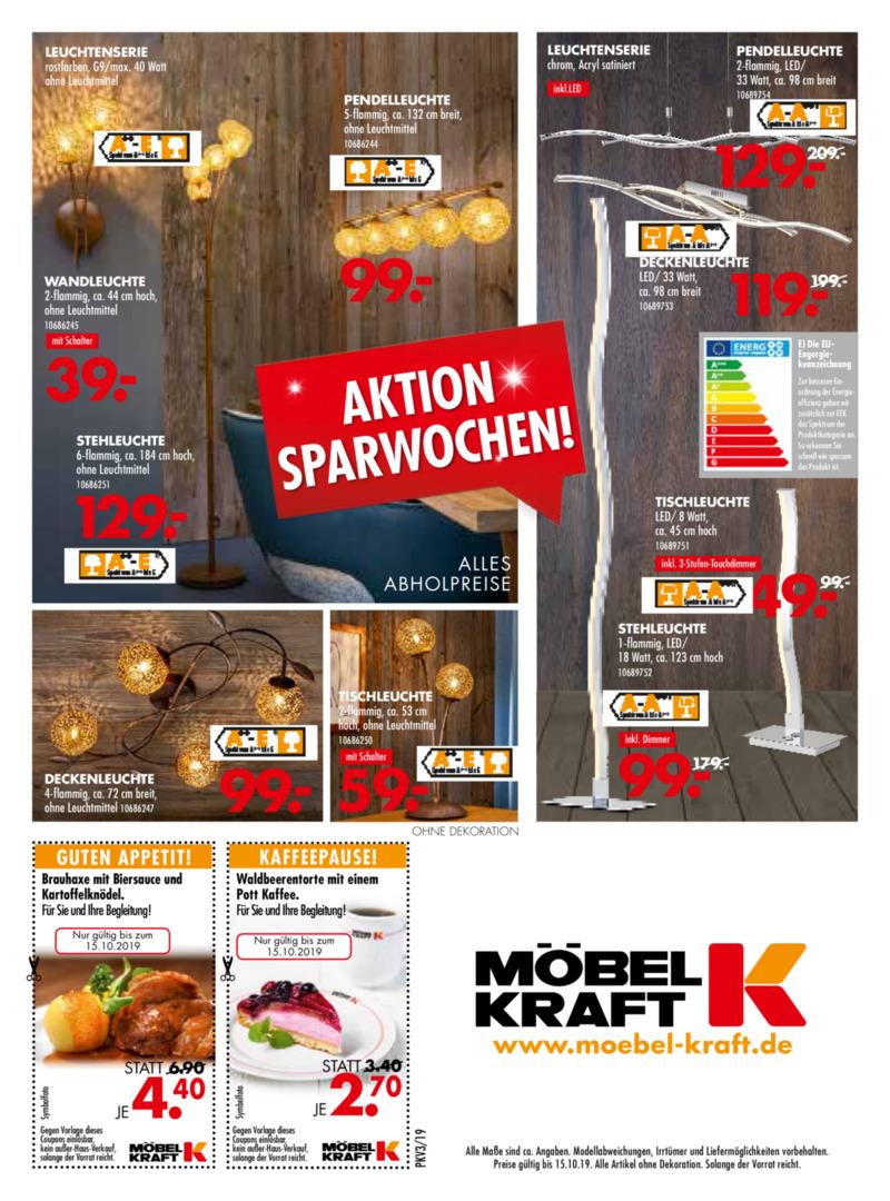 Möbel-Kraft Prospekt vom 18.09.2019, Seite 23