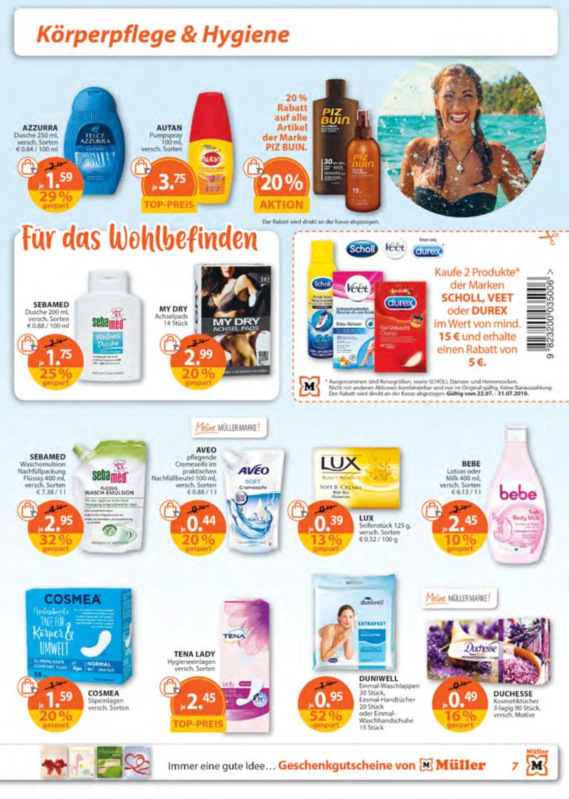 Müller Prospekt vom 22.07.2019, Seite 6