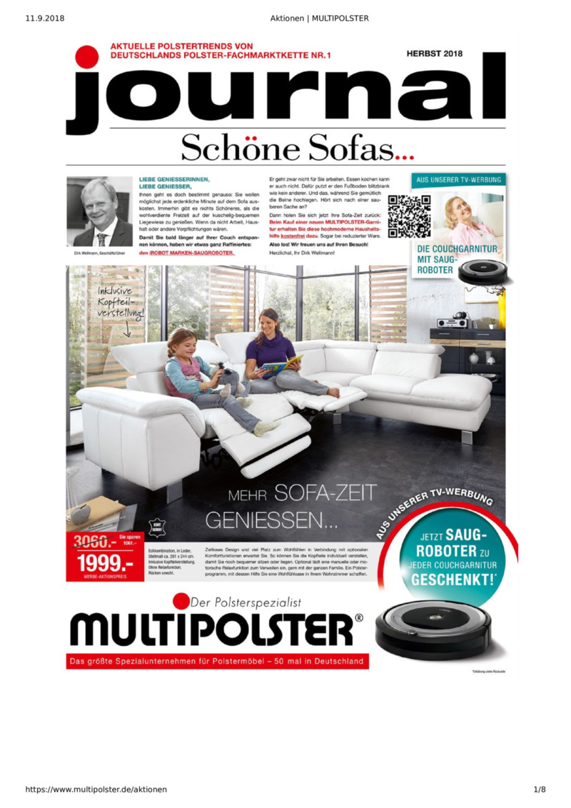 Multipolster Prospekt vom 05.09.2018