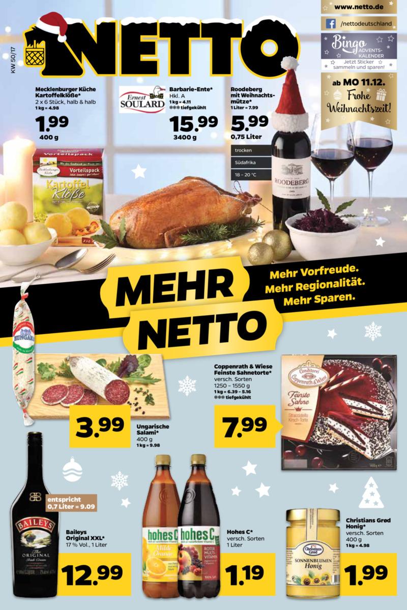 NETTO Supermarkt Prospekt vom 11.12.2017, Seite