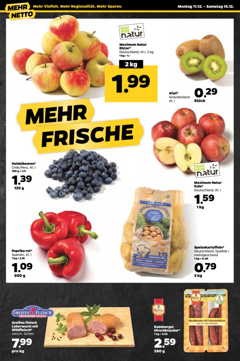NETTO Supermarkt Prospekt vom 11.12.2017, Seite 1