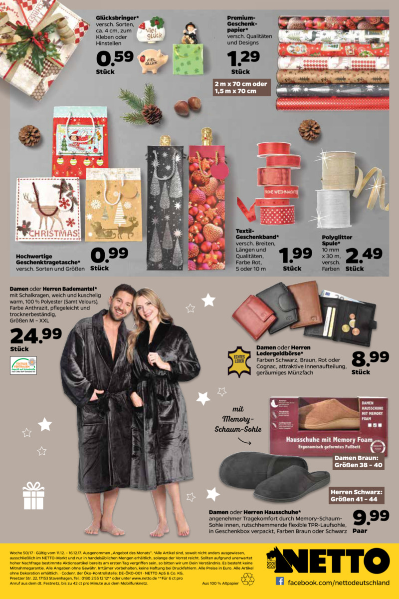 NETTO Supermarkt Prospekt vom 11.12.2017, Seite 19
