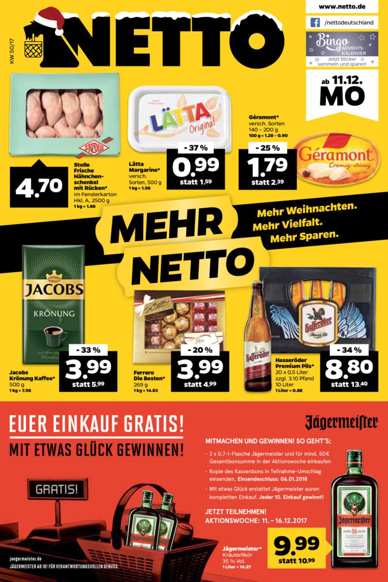 NETTO Supermarkt Prospekt vom 11.12.2017, Seite 20