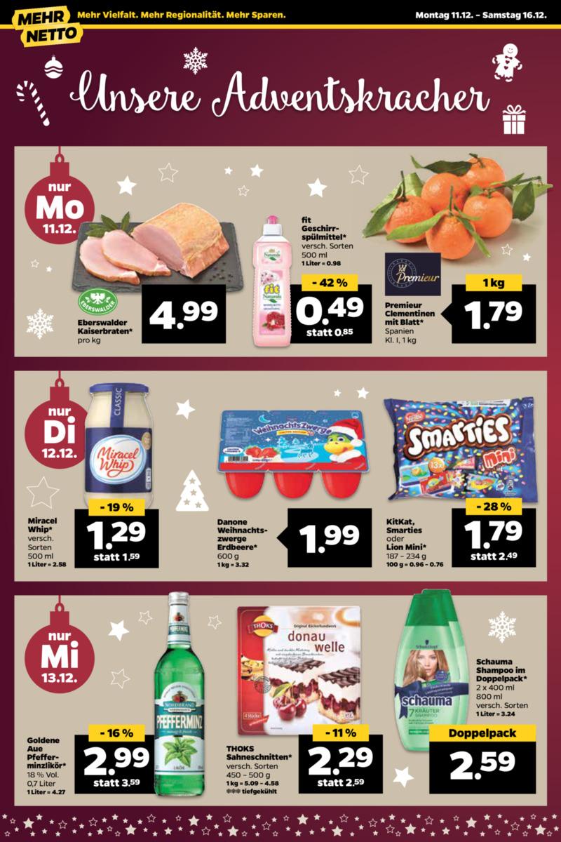 NETTO Supermarkt Prospekt vom 11.12.2017, Seite 21