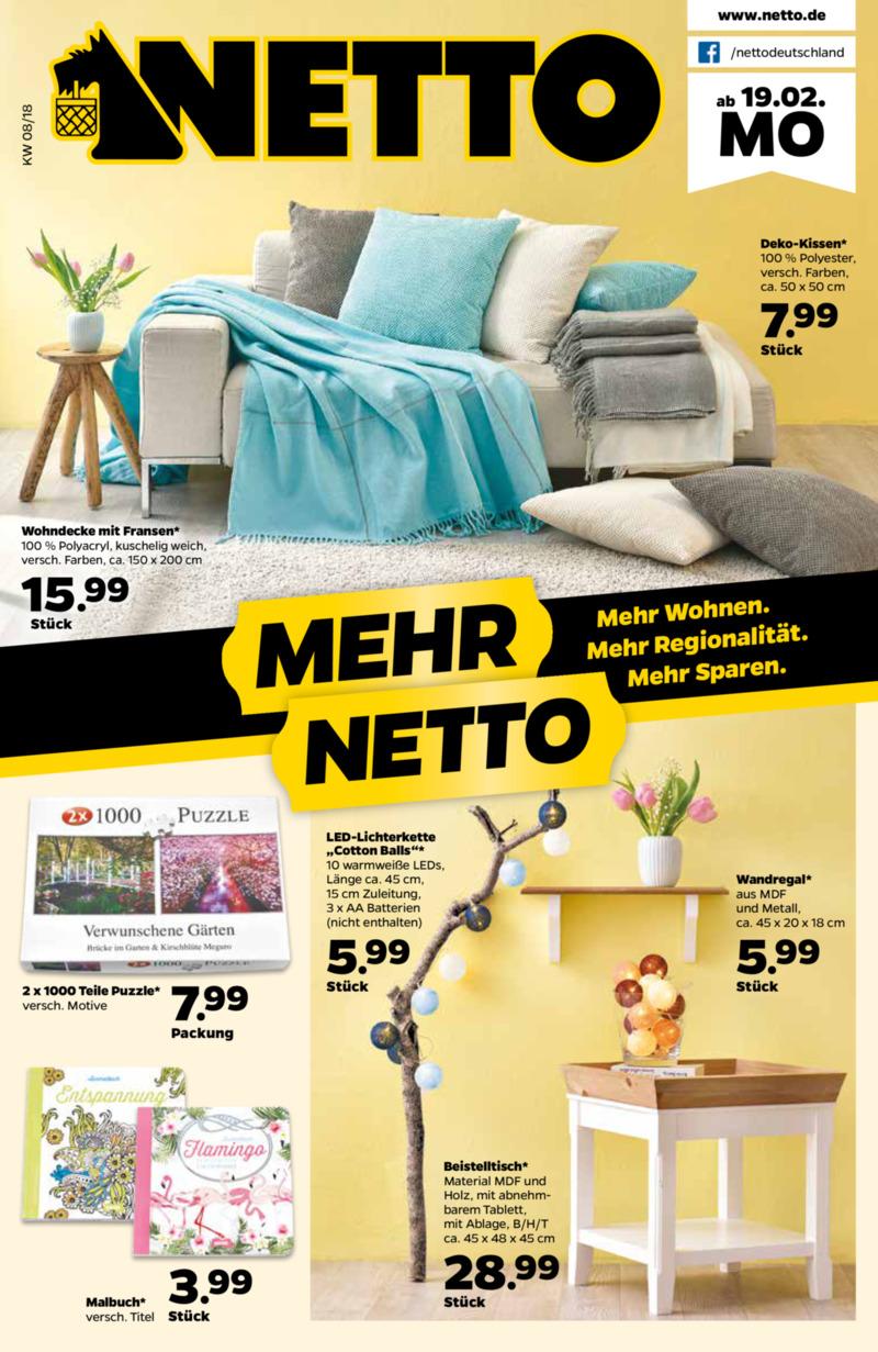 NETTO Supermarkt Prospekt vom 19.02.2018, Seite