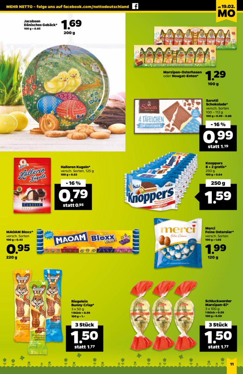 NETTO Supermarkt Prospekt vom 19.02.2018, Seite 10