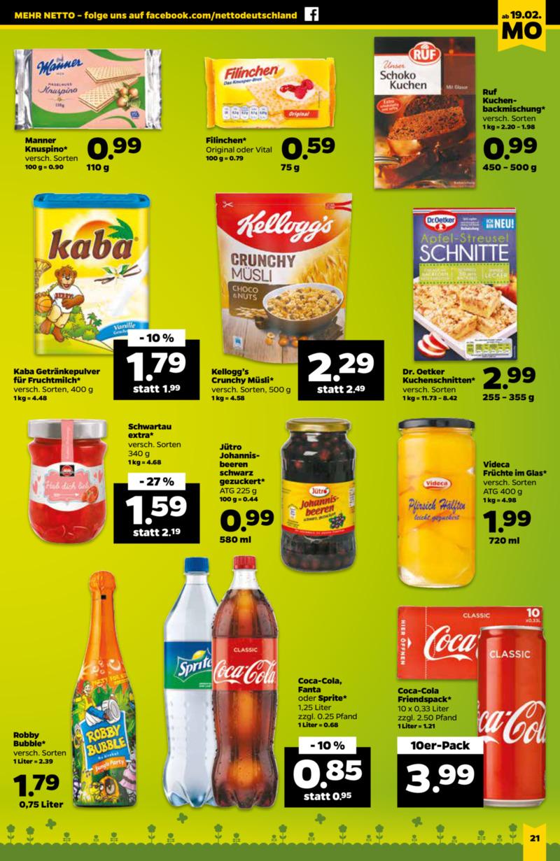 NETTO Supermarkt Prospekt vom 19.02.2018, Seite 12