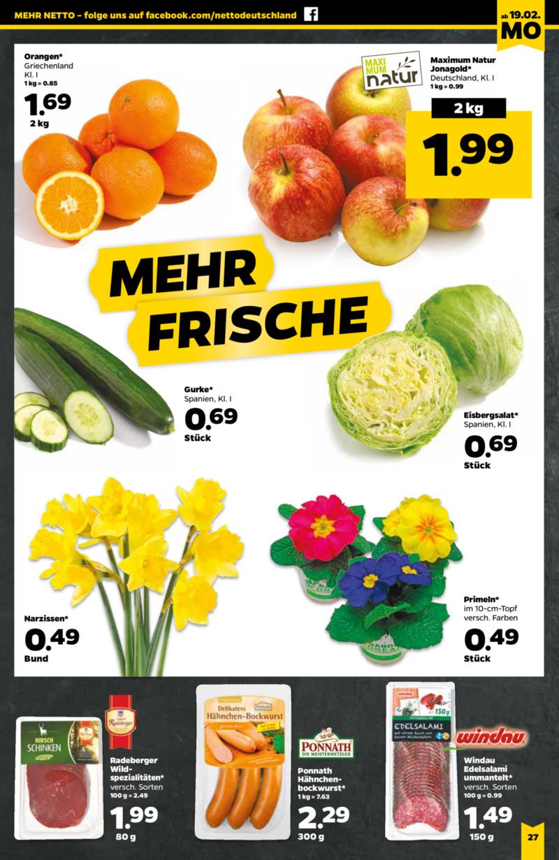 NETTO Supermarkt Prospekt vom 19.02.2018, Seite 18
