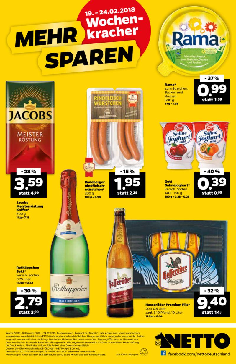 NETTO Supermarkt Prospekt vom 19.02.2018, Seite 19