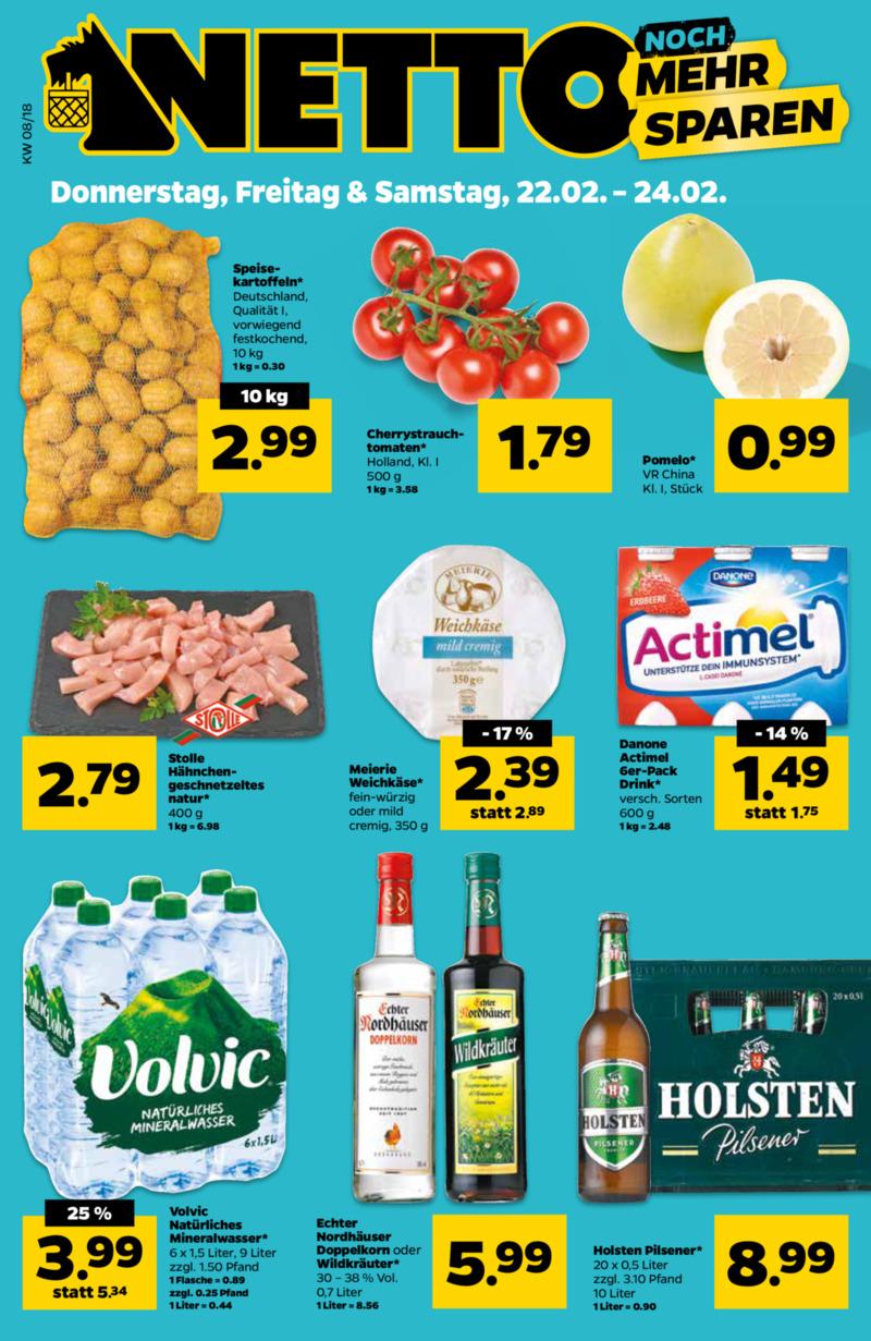 NETTO Supermarkt Prospekt vom 22.02.2018, Seite